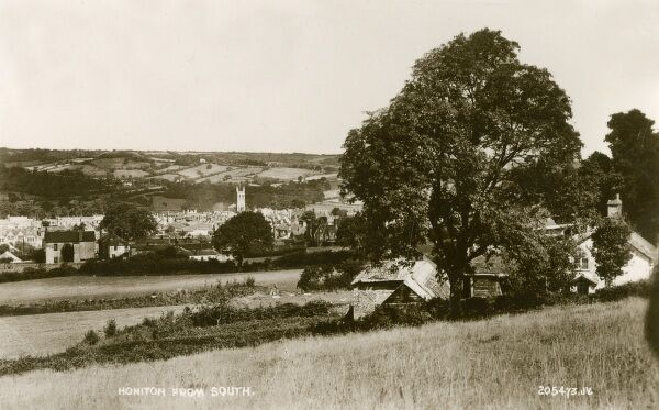 A very attractive idyliic rural view of Honiton from the South