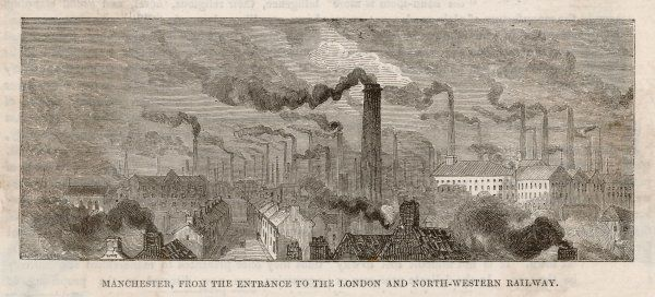 A view of the factories of Manchester