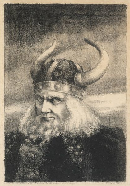 'Old Vic Company' - the role of Ornulf the Viking played by Percy Walsh