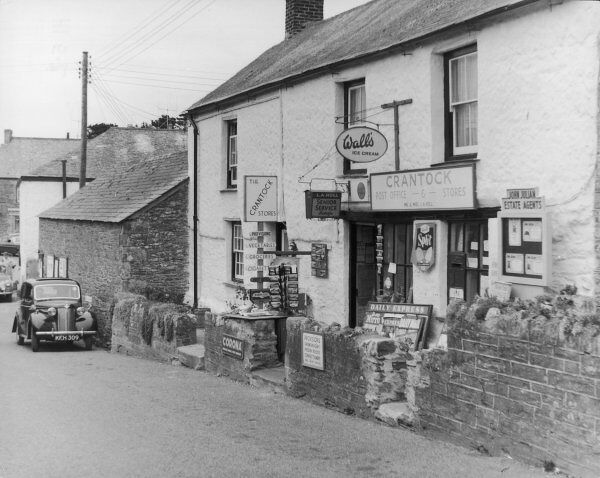 The Crantock Stores, near Newquay, Cornwall; selling Wall's ice cream, newspapers, postcards and incorporating the village post office