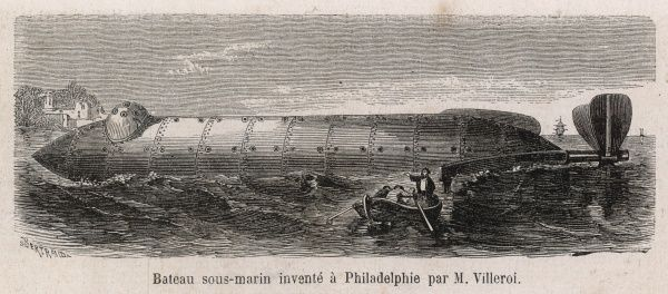 The submarine project of Villeroi, constructed at Philadelphia, might change the course of the War between the States... if it proves successful