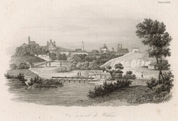 General view of the city, at a time when it was part of Poland