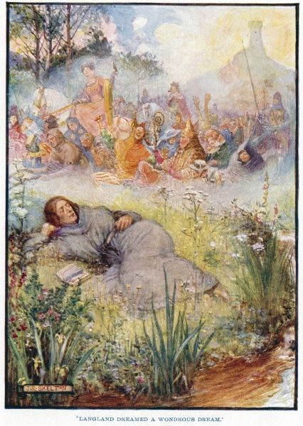 'Langland dreamed a wondrous dream.' William Langland, in his 14th century poem, Piers Ploughman, falls asleep upon the Malvern Hills and dreams a dream in which he sees a 'fair field full of folk&#39