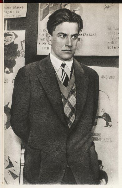 VLADIMIR MAYAKOVSKY Russian poet, 'futurist' : supported communism from 1907, after 1917 sought to 'depoetize' poetry by use of technical innovations
