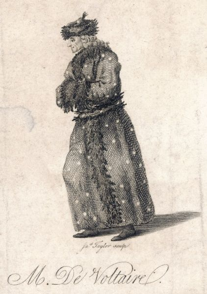 FRANCOIS-MARIE AROUET the French writer and philosopher in cold weather