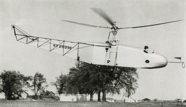 VS-300 Sikorsky helicopter, c.1940-1950s Date: circa 1940s