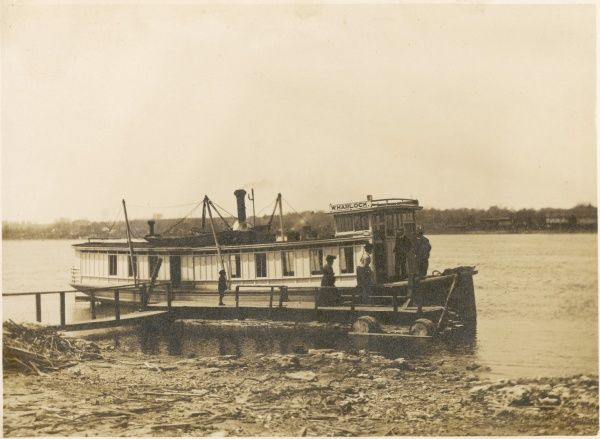 W. Harlock steamer ferry, ran from Fulton Landing, Illinois, America