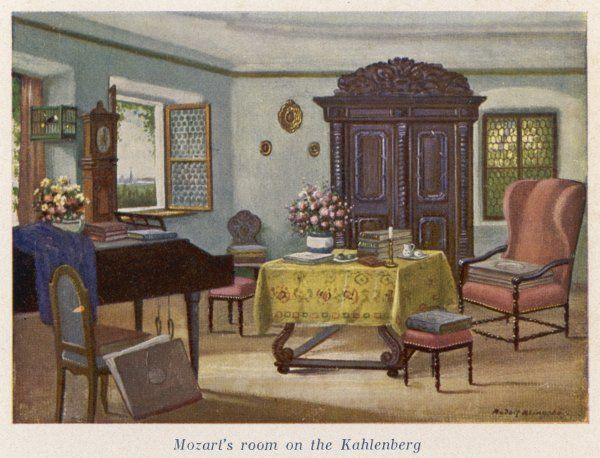 His room on the Kahlenberg, Vienna