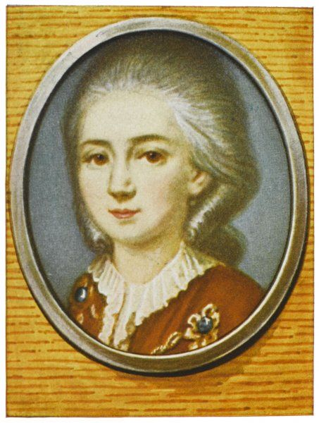 WOLFGANG AMADEUS MOZART the Austrian composer as a young man