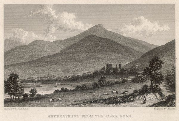 Abergavenny from the Uske Road