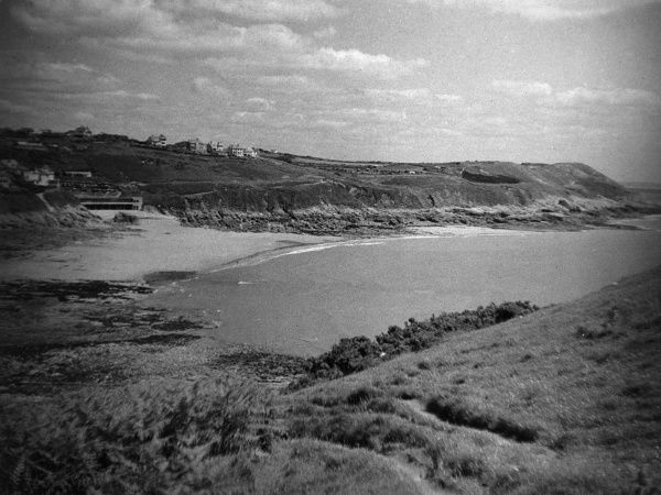 Langland Bay, east of Mumbles, on Swansea Bay, Glamorganshire, Wales. Date: 1960s