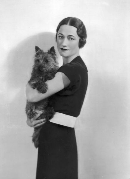 Wallis Simpson with her Dog