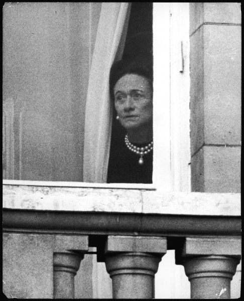 Wallis Simpson at the window of Buckingham Palace watching the Trooping the Colour on the 3rd June 1972. Wallis had travelled to England and was received by the Queen on the death of her husband, the Duke of Windsor, formerly King Edward VIII