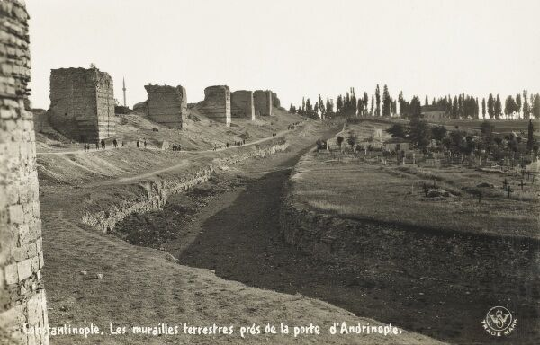 Walls of Constantinople close to the Adrinople Gate