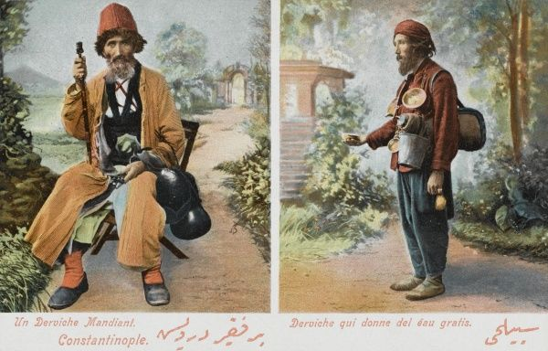 Constantinople - Wandering Dervish and a Derivish who gives out free water