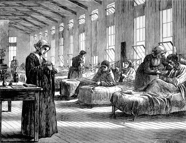 The Hampstead hospital was one of the four fever and small pox hospitals in London. The building was erected in 1870 to cope with the small pox epidemic