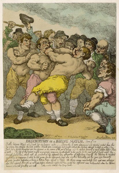 Description of a boxing match between Ward and Quirk