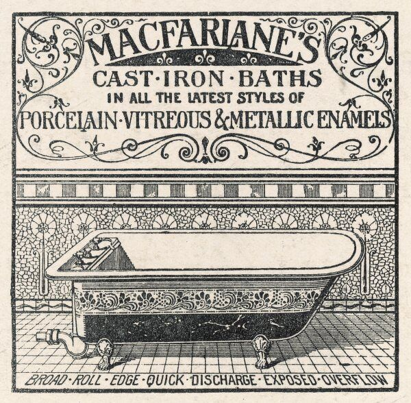 Advert for 'MacFarlanes Cast Iron Baths&#39