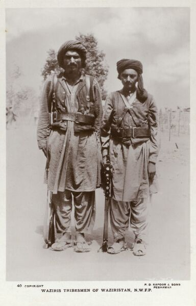 Waziris Tribesmen of Waziristan - North West Frontier Province Date: 1919