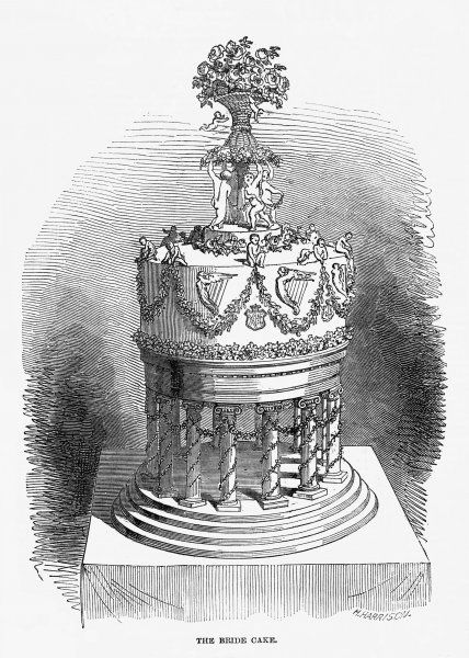 The 'Bride Cake' for the wedding of the Marquis of Kildare