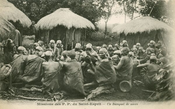 French Mission of Saint-Esprit in French Central Africa - a wedding party
