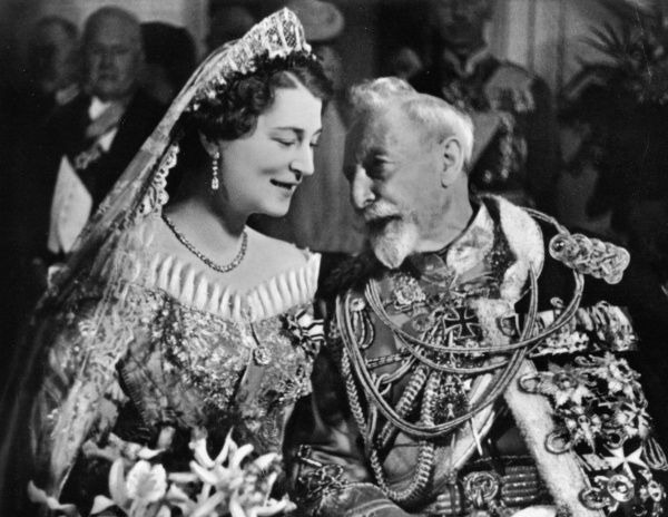 The wedding of Kira Kirillovna of Russia (1909-1967), daughter of Princess Victoria Melita of Edinburgh and Saxe-Coburg and Grand Prince Kirill. With her is Kaiser Wilhelm II, the grandfather of her husband, Prince Louis Ferdinand of Prussia