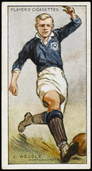 J Weddle, Centre Forward for Portsmouth