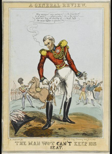 The Duke of Wellington unhorsed - 'd---d accident ! d---d mess ! what a pickle ! d--n the cows !&#39