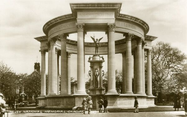 Welsh National War Memorial, Cardiff, Wales - designed by J. Ninian Cooper and unveiled in June 1928 by the Prince of Wales