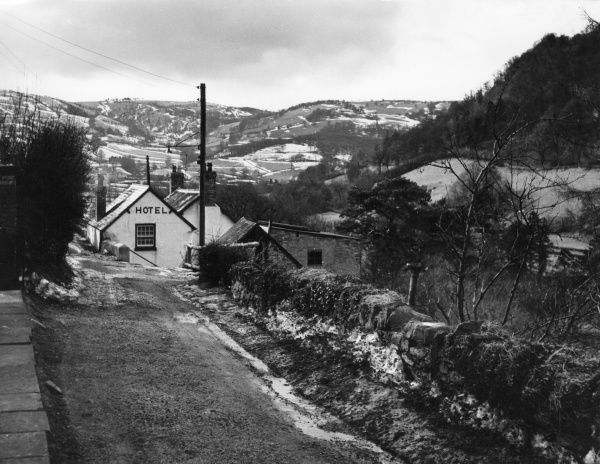 A late winter view in the lovely Glyn Ceiriog Valley, Denbighshire, Wales. Date: 1960s