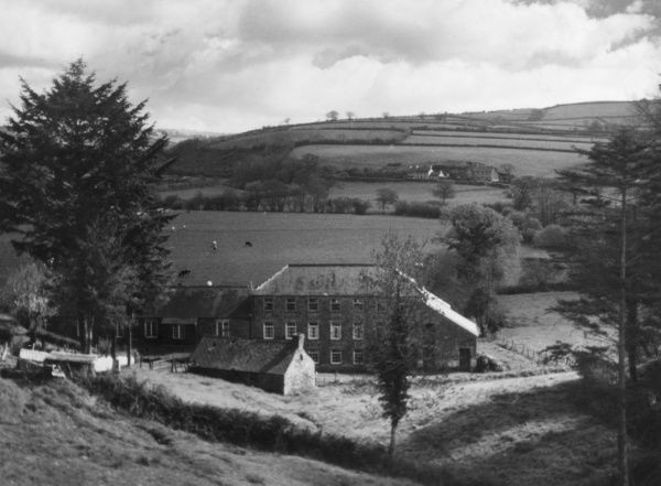 The splendidly situated Youth Hostel at Pentre Cwrt, Llandyssul, Cardiganshire, Wales. Date: 1950s