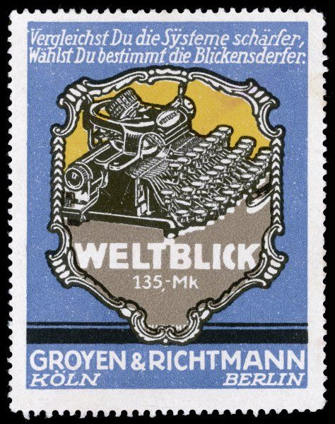 Promotion for the Weltblick typewriter