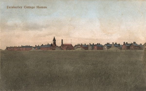 Distant view of the West Derby Union cottage homes at Fazakerley, Liverpool. The homes were opened in 1889 to house pauper children away from the workhouse