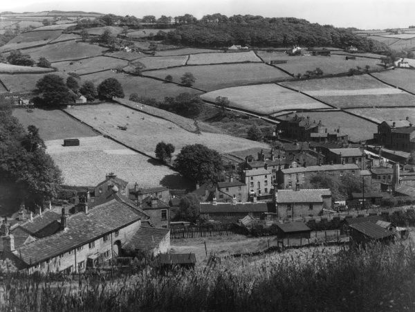 Typical West Yorkshire countryside, near Sowerby Bridge, England. Date: 1960s