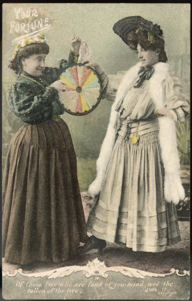 A fortune-teller uses a 'wheel of fortune&#39