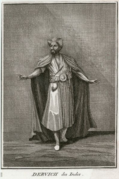 'Dervish or Turkish monk who turns by devotion' - a whirling dervish