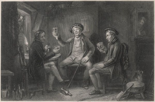"Scottish Whisky drinkers : ""Willie Brew'd A Peck O'Maut"" - poem by Robert Burns"