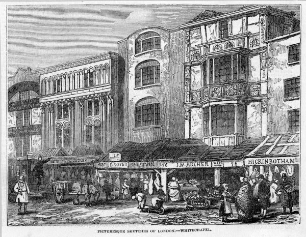 Whitechapel is described as 'picturesque' in this engraving