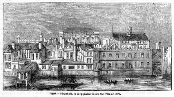 Whitehall as it appeared before the fire of 1691