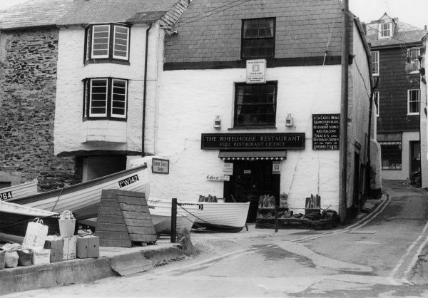 The Whitehouse Restaurant, a lovely old building in Port Isaac, north Cornwall, England. Date: 1960s