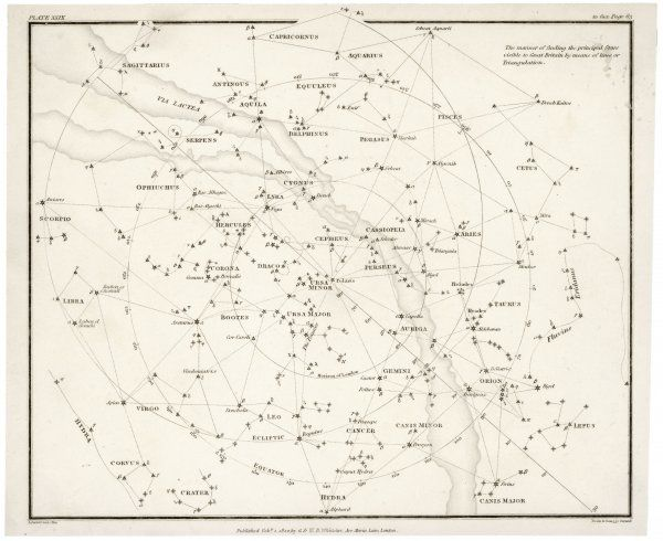Stars visible in Great Britain (if the sky is clear...) Date: 1822