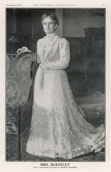 WIFE OF WILLIAM MCKINLEY Ida Saxon. Married on January 25, 1871 to Willian McKinley, 25th President of the United States