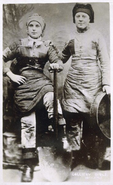 Two Wigan colliery girls