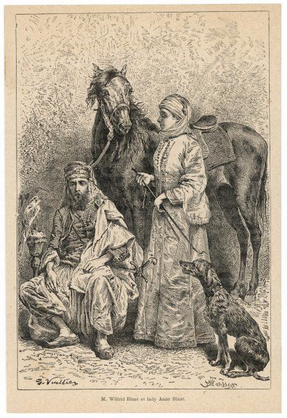 WILFRED SCAWEN BLUNT English poet and traveller LADY ANNE BLUNT his wife (1858) who travelled with him on many expeditions in search of horses for their stud farm