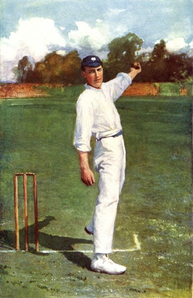 Wilfred Rhodes. Cricketer Date: circa 1900