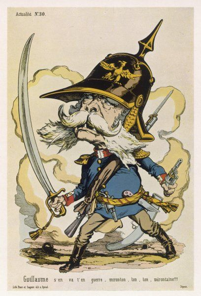 KAISER WILHELM I Emperor of Germany: a satirical view of 1870, during the Franco- Prussian War