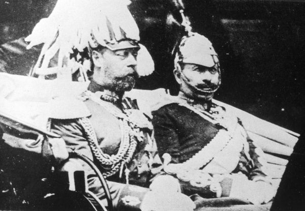 WILHELM II OF GERMANY With King George V of England in Berlin in 1913