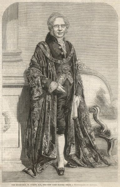 WILLIAM CUBITT, property developer, MP, in his robes as Lord Mayor of London