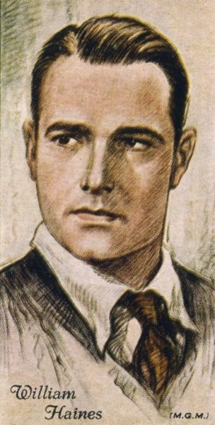WILLIAM HAINES American leading man of silent films Date: 1900 - 1973