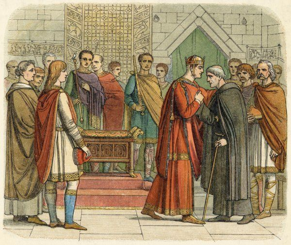 William I meets with the English leaders
